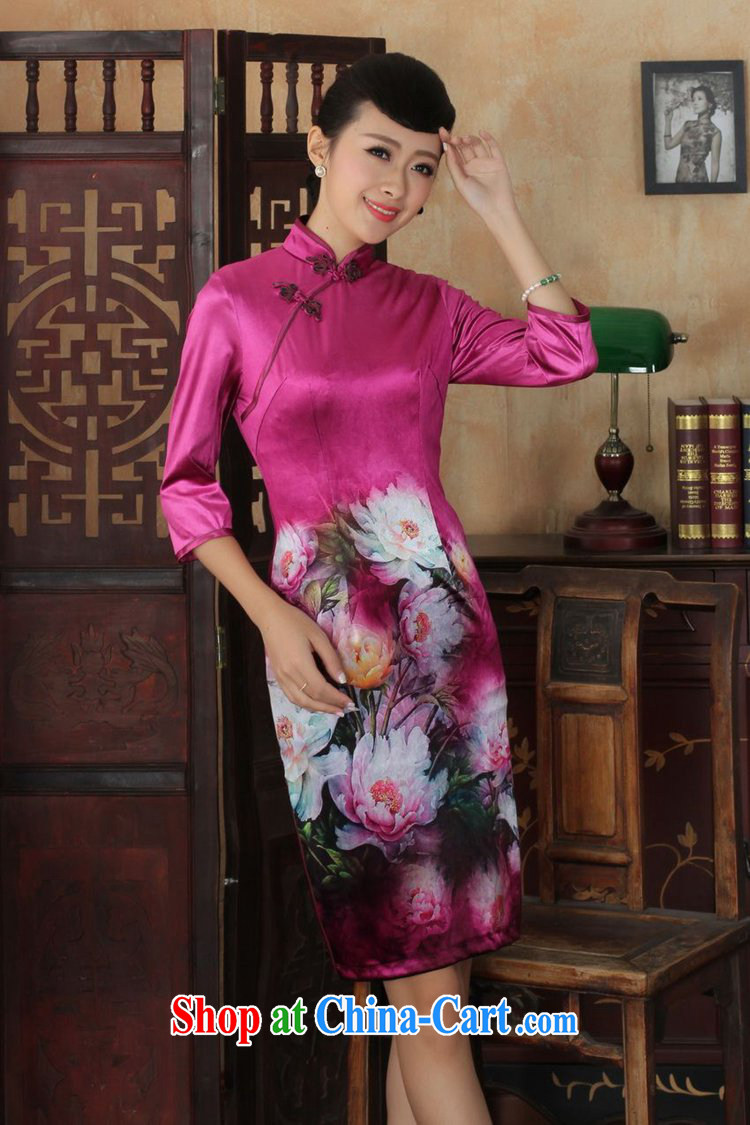 According to fuser stylish new ladies retro Ethnic Wind improved Chinese qipao, scouring pads 7 beauty cuff cheongsam dress LGD/TD #0035 figure 2 XL pictures, price, brand platters! Elections are good character, the national distribution, so why buy now enjoy more preferential! Health