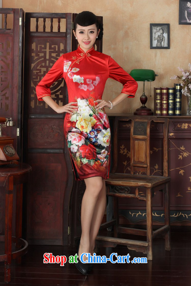 Under the fuser and stylish new ladies' dresses Ethnic Wind the wool poster beauty 7 sub-cuff cheongsam dress LGD/TD #0033 figure 3 XL pictures, price, brand platters! Elections are good character, the national distribution, so why buy now enjoy more preferential! Health