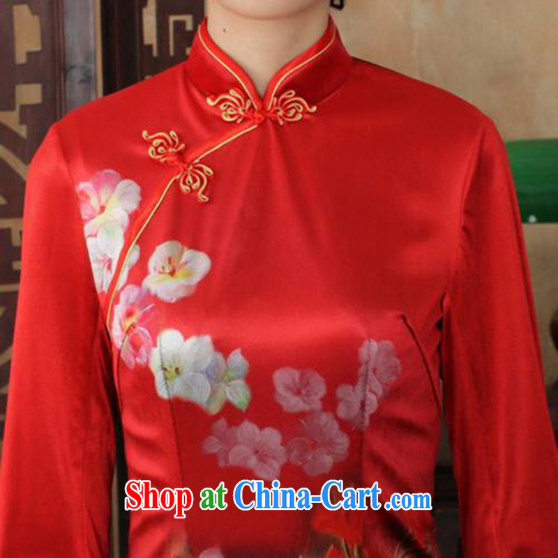 According to fuser and stylish new ladies dresses Ethnic Wind the wool poster beauty 7 cuff cheongsam dress LGD/TD 0033 #3 XL, fuser, and shopping on the Internet