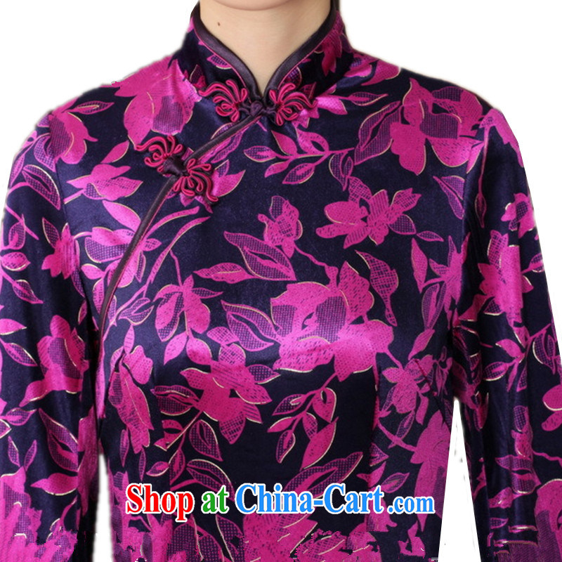 According to fuser new women with improved Chinese qipao Ethnic Wind up for the wool beauty 7 cuff cheongsam dress LGD/TD 0027 # of saffron 3 XL, according to gel, and, shopping on the Internet