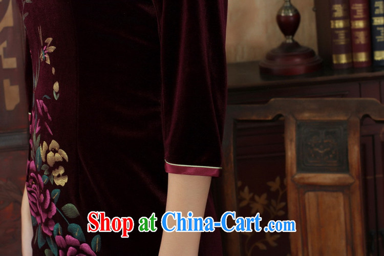 Under the fuser and stylish new female-stretch really scouring pads, for a tight 7 cultivating a cuff Chinese cheongsam dress LGD/TD 0026 #wine red 3 XL pictures, price, brand platters! Elections are good character, the national distribution, so why buy now enjoy more preferential! Health