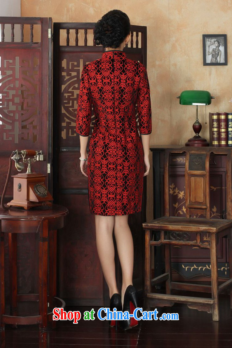 Under the fuser and stylish new ladies dresses Ethnic Wind lace gold velour 7 beauty cuff cheongsam dress LGD/TD 0025 #3 XL pictures, price, brand platters! Elections are good character, the national distribution, so why buy now enjoy more preferential! Health