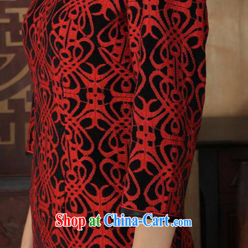 According to fuser stylish new ladies dresses Ethnic Wind lace gold velour 7 beauty cuff cheongsam dress LGD/TD 0025 #3 XL, fuser, and online shopping