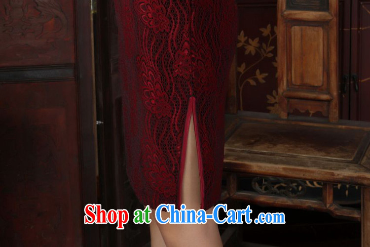 According to fuser Ethnic Wind and stylish new ladies dresses, for the hard-pressed lace gold velour cultivating 7 cuff cheongsam dress LGD 90/TD 0024 #3 XL pictures, price, brand platters! Elections are good character, the national distribution, so why buy now enjoy more preferential! Health