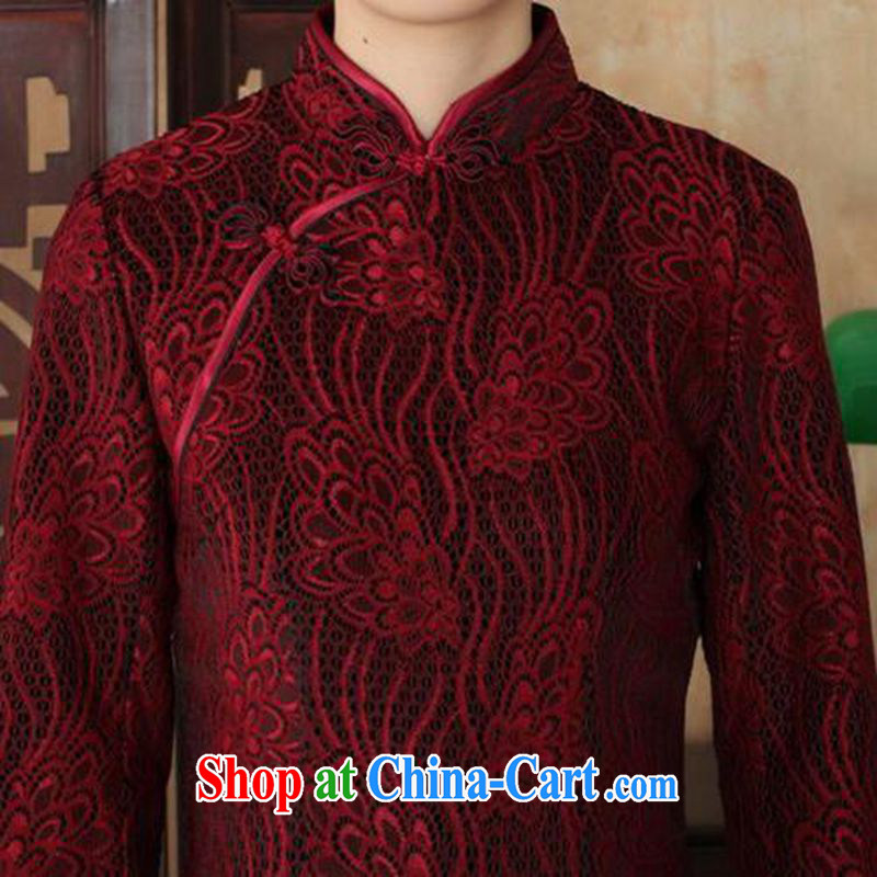 In accordance with fuser Ethnic Wind and stylish new ladies dresses, for the hard-pressed lace gold velour cultivating 7 cuff cheongsam dress LGD 90/TD 0024 #3 XL, fuser, and shopping on the Internet