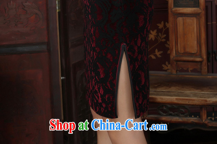 Under the fuser and stylish new Ethnic Wind improved female cheongsam lace gold velour Sau San 7 sub-cuff with Tang cheongsam dress LGD/TD 0022 #3聽XL pictures, price, brand platters! Elections are good character, the national distribution, so why buy now enjoy more preferential! Health