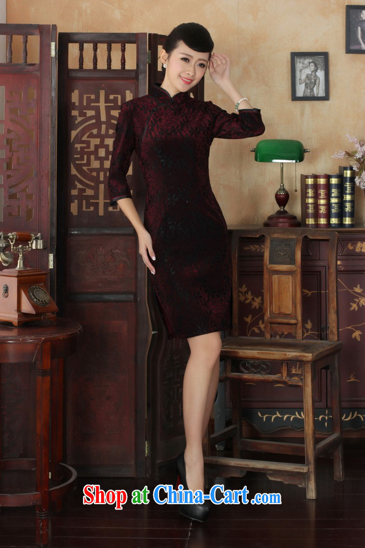 Under the fuser and stylish new ladies dresses Ethnic Wind lace gold velour cultivating 7 sub-cuff cheongsam dress LGD/TD 0021 #3 XL pictures, price, brand platters! Elections are good character, the national distribution, so why buy now enjoy more preferential! Health