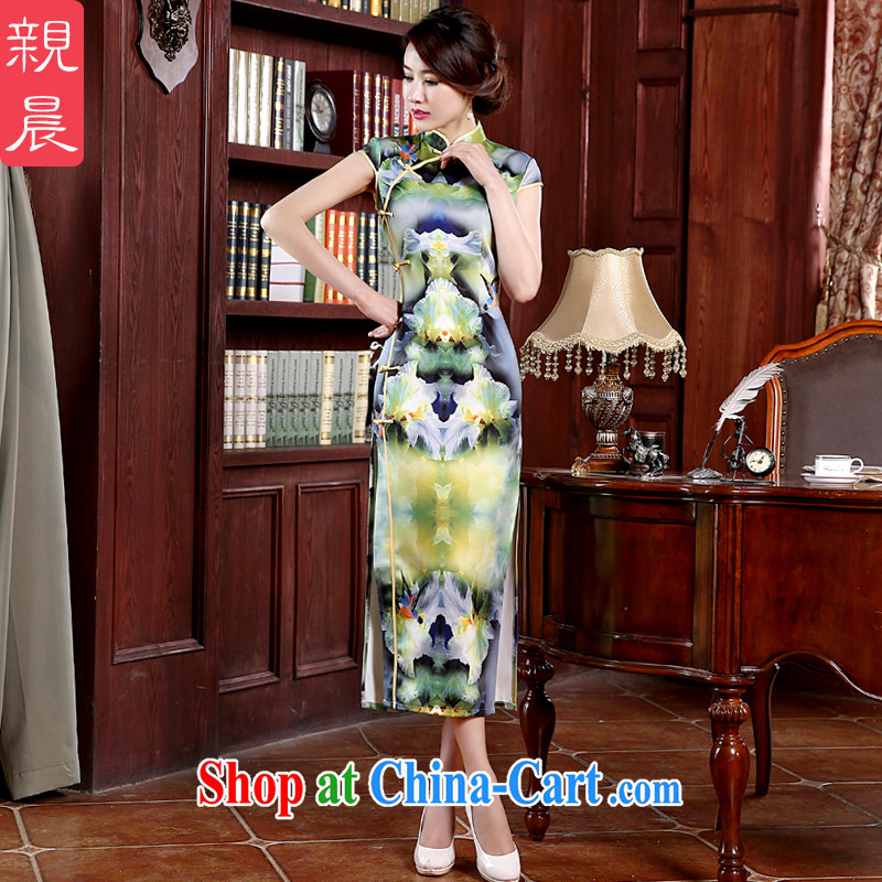 Parent morning cheongsam dress improved Stylish spring 2015 new day-long, short-sleeved, qipao dresses summer long 2XL