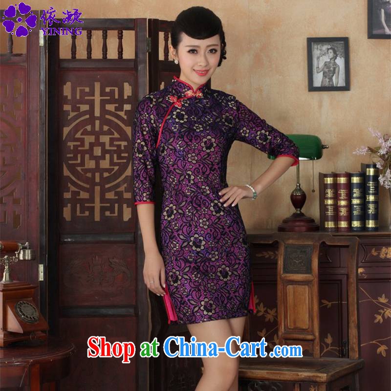 According to fuser stylish new clothes improved Chinese qipao retro lace-cultivating cheongsam dress cuff in Chinese qipao dress LGD_TD _0017 figure 2 XL