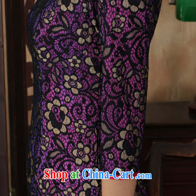According to fuser stylish new clothes improved Chinese qipao retro lace-cultivating cheongsam dress cuff in Chinese cheongsam dress LGD/TD #0017 figure 2 XL, fuser, and shopping on the Internet