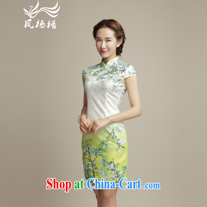 Bong-amphibious Ori-CHUI Chi stylish improved cheongsam 2015 summer elegant retro Daily Beauty cheongsam dress DQ 1599 fancy XXL
