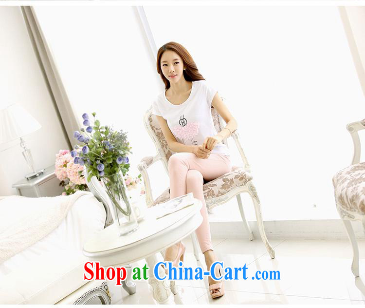 Ya-ting store 2015 short sleeved shirt T girl T-shirts female students with summer new larger female Korean short-sleeved white XL pictures, price, brand platters! Elections are good character, the national distribution, so why buy now enjoy more preferential! Health