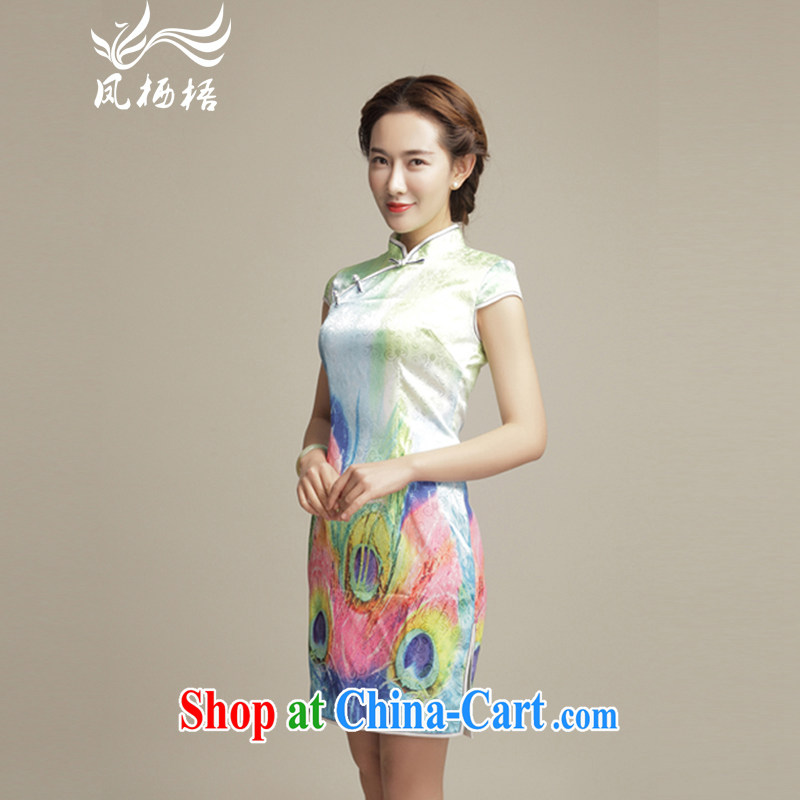Bong-amphibious Ori-drunk dance style improved cheongsam dress summer 2015 new Chinese classical beauty and elegant cheongsam dress DQ 15,100 fancy XXL
