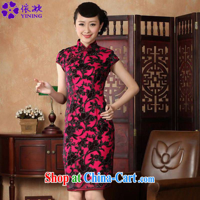 According to fuser stylish new ladies retro Ethnic Wind outfit, for a tight Classic tray clip Sau San Tong with cheongsam dress LGD/TD #0014 figure 2 XL