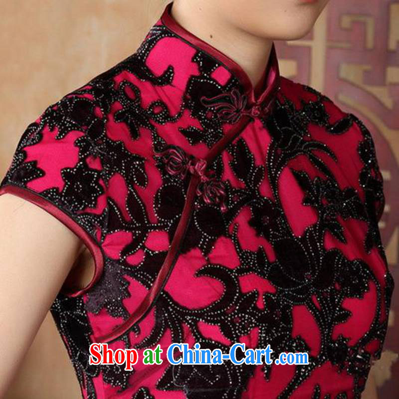 According to fuser stylish new ladies retro Ethnic Wind outfit, for a tight Classic tray clip Sau San Tong with cheongsam dress LGD/TD #0014 figure 2 XL, fuser, and online shopping