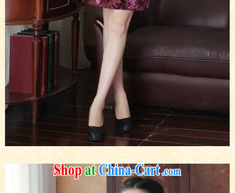 Bin Laden smoke-free summer new cheongsam dress dinner Chinese improved the style and elegant wool China wind short-sleeve dresses such as the color XL pictures, price, brand platters! Elections are good character, the national distribution, so why buy now enjoy more preferential! Health