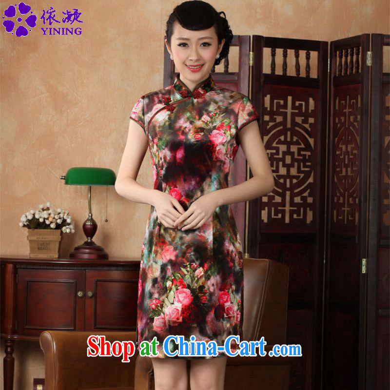 According to fuser stylish new clothes improved Chinese qipao, for a tight Classic tray for cultivating short Chinese qipao dress LGD_TD _0013 figure 2 XL