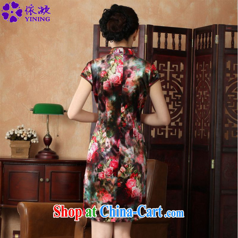 According to fuser stylish new clothes improved Chinese qipao, for a tight Classic tray for cultivating short Chinese qipao dress LGD/TD 0013 #as figure 2 XL, fuser, and shopping on the Internet