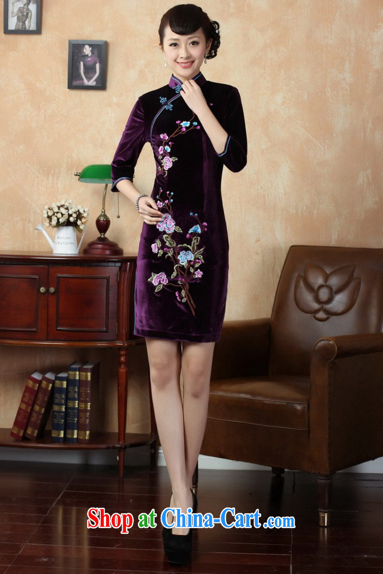 According to fuser stylish new ladies retro improved Chinese qipao, for a tight embroidered short, cultivating Chinese cheongsam dress LGD/TD 0010 #wine red 2 XL pictures, price, brand platters! Elections are good character, the national distribution, so why buy now enjoy more preferential! Health