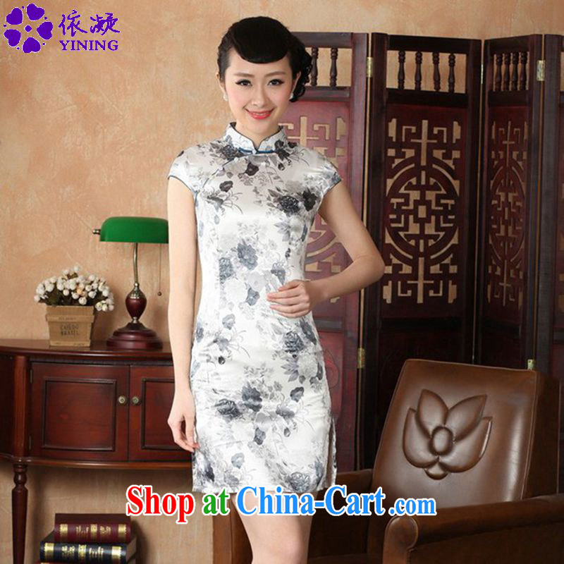 According to fuser stylish new daily improved Chinese qipao, for a tight stamp beauty short Chinese qipao dress LGD/J #5139 figure 2 XL