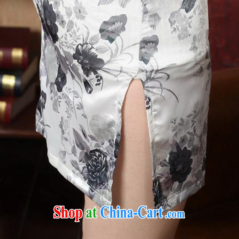According to fuser stylish new daily improved Chinese qipao, for a tight stamp beauty short Chinese qipao dress LGD/J #5139 figure 2 XL, fuser, and Internet shopping