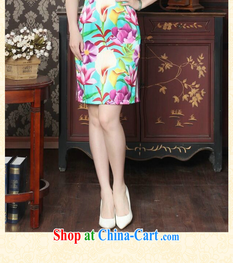 Dan smoke female summer, new Silk Cheongsam fashion cheongsam Chinese improved, DOS SANTOS for Silk Cheongsam banquet figure color XL pictures, price, brand platters! Elections are good character, the national distribution, so why buy now enjoy more preferential! Health