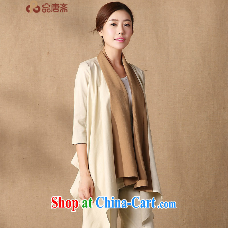 Mr Henry Tang, Id al-Fitr 2015 spring new Han-costumed improved relaxed original China wind, modern Chinese apricot M