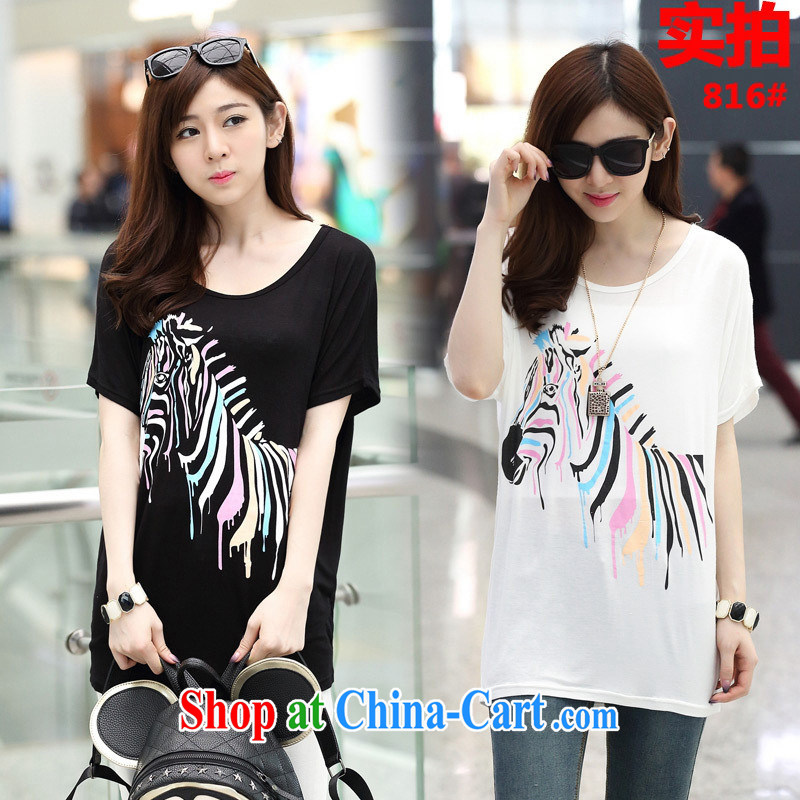 Rachel Deloitte Touche Tohmatsu Deloitte Touche Tohmatsu store sunny store 2015 spring new Korean female loose the code bat short-sleeved shirt T white are code