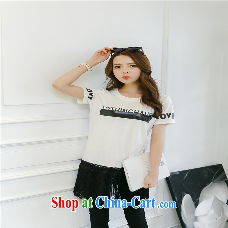 Rachel Deloitte Touche Tohmatsu Deloitte Touche Tohmatsu store sunny store 2015 spring new Korean popular female fashion beauty T solid shirt white other size