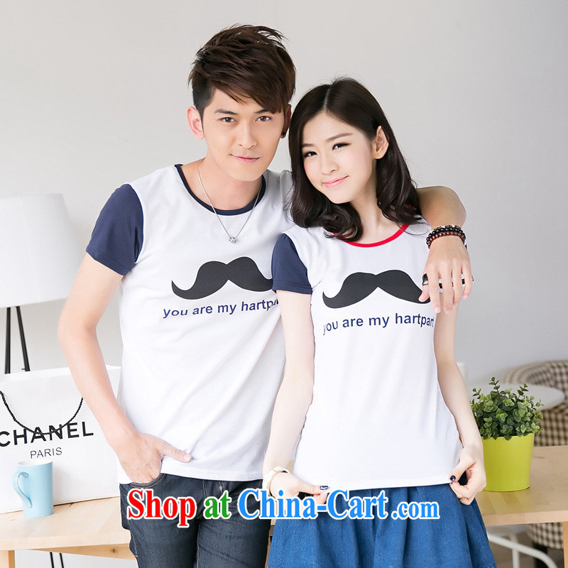 Health concerns women's clothes _ couples with 2015 T-shirt with short sleeves T-shirt spring new lovely cultivating pure cotton can be customized on marriage serving F 2539 Map Color male XXL