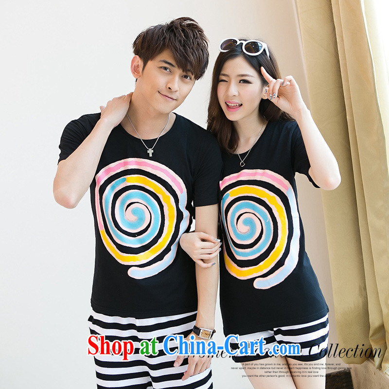 For health concerns women _ for couples with 2015 short-sleeved candy T pension trends 100 new summer couples on load, a short-sleeved shirt T F 2534 black male XXL