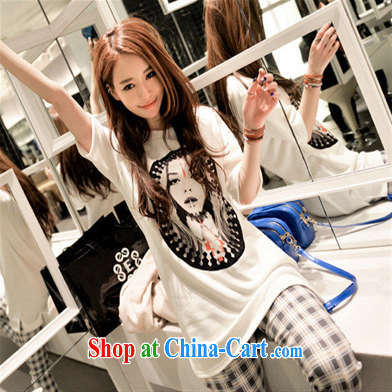 Deloitte Touche Tohmatsu store sunny spring Korean version 2015 trend female new stylish personality 100 stamp duty on van's beauty poll short-sleeved T pension picture color code
