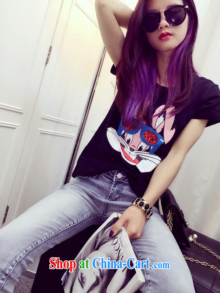 Qin Qing store the European site 2015 spring new white and bright, embroidered new stylish 100 ground short-sleeved T shirt T-shirt woman white are code pictures, price, brand platters! Elections are good character, the national distribution, so why buy now enjoy more preferential! Health