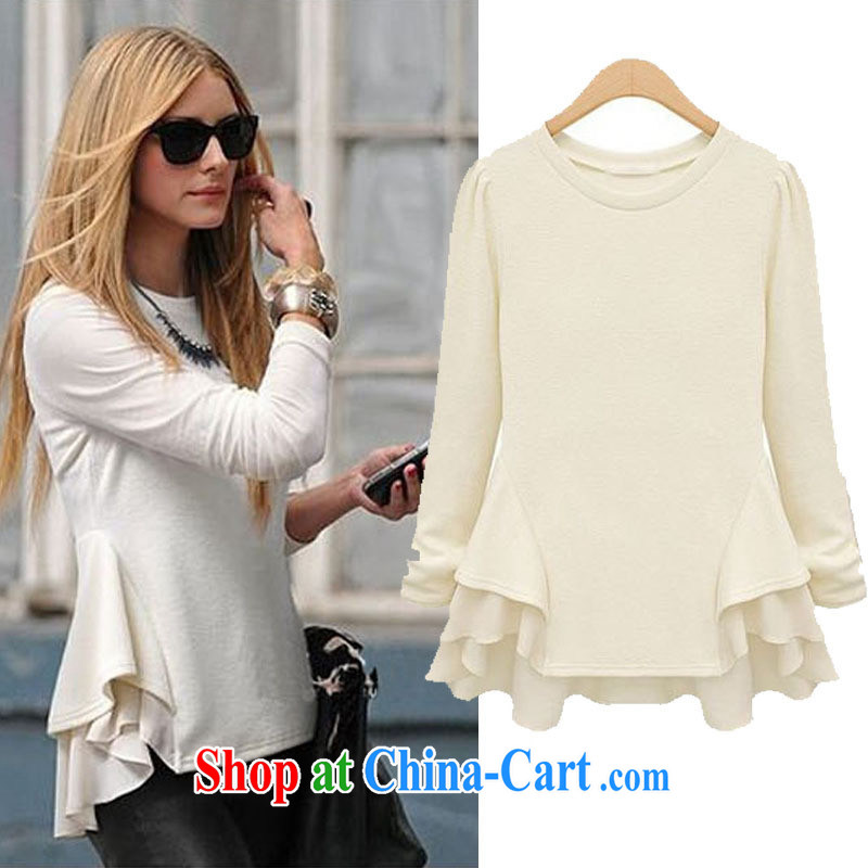 2015 spring new European wind big stitching waves, with stylish long-sleeved shirt T snow jacket woven shirts black XL