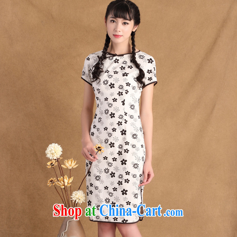 The Yee-sa Greek language 2015 new summer cotton Ma daily improved cheongsam with Korea antique dresses skirts girls CTB HD 213 2 XL