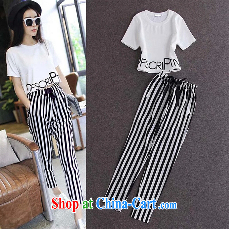 Deloitte Touche Tohmatsu store sunny South Korea Korean Dongdaemun Shopping high-end 2015 spring new female T shirts, trousers 1139 photo color XL