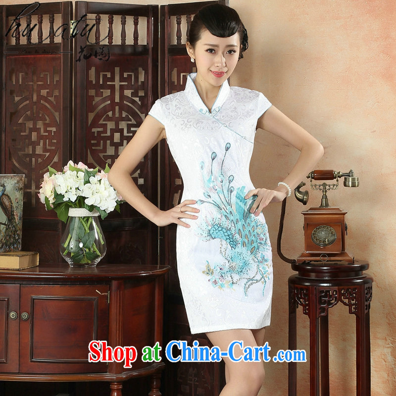 Take the new cheongsam dress summer day-old fashioned Chinese, for national wind female improved cotton dresses such as the color 2 XL