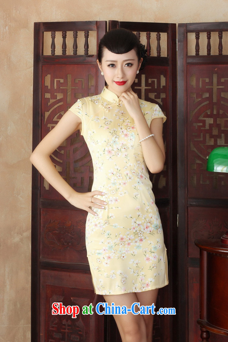 Dan smoke female summer new cheongsam dress stylish improved Chinese floral retro daily short cheongsam dress as color 2XL pictures, price, brand platters! Elections are good character, the national distribution, so why buy now enjoy more preferential! Health