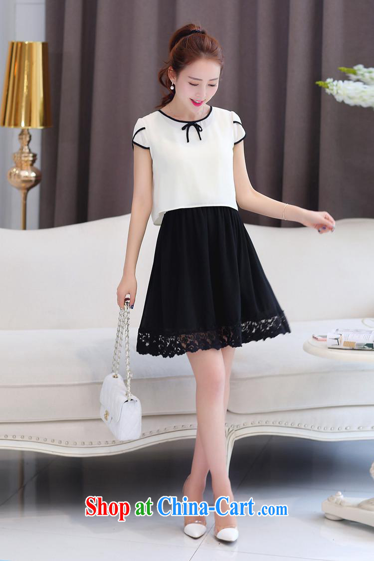 Ya-ting store snow woven shirts girls short skirts two-piece spring Korean female solid-colored snow woven dresses stylish cuffs, with white XXL pictures, price, brand platters! Elections are good character, the national distribution, so why buy now enjoy more preferential! Health