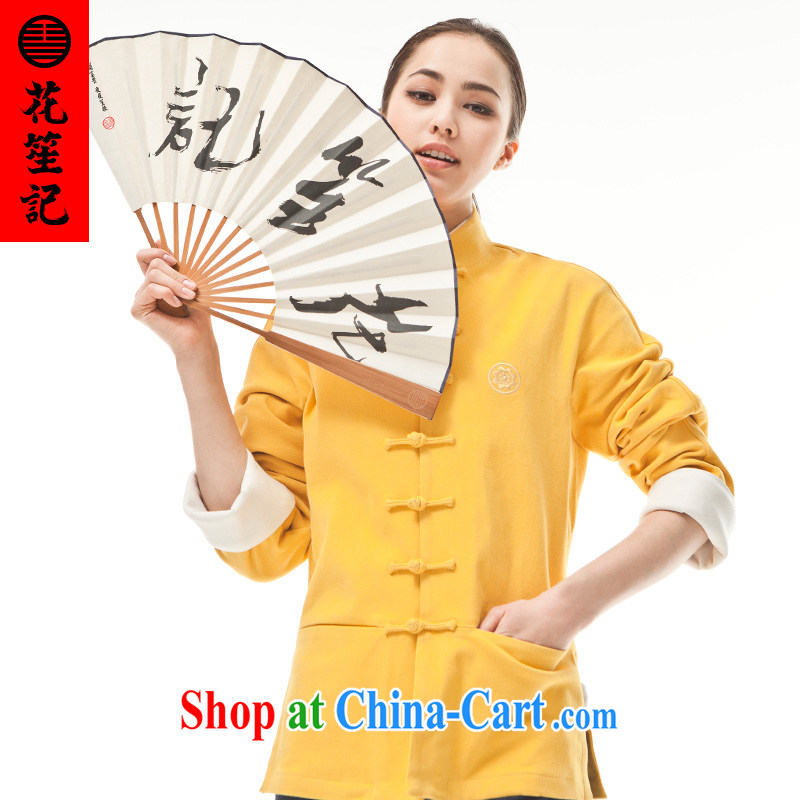 His Excellency took the wind _B_ is not 9 color deer female spring cultivating Long-Sleeve stylish Chinese Antique T-shirt yellow furnace Wong furnace _M_
