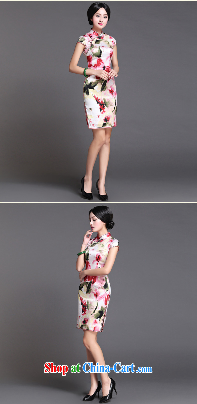 Joe is still a high-heavy silk gathering improved cheongsam summer dresses ZS 010 white XXXL pictures, price, brand platters! Elections are good character, the national distribution, so why buy now enjoy more preferential! Health