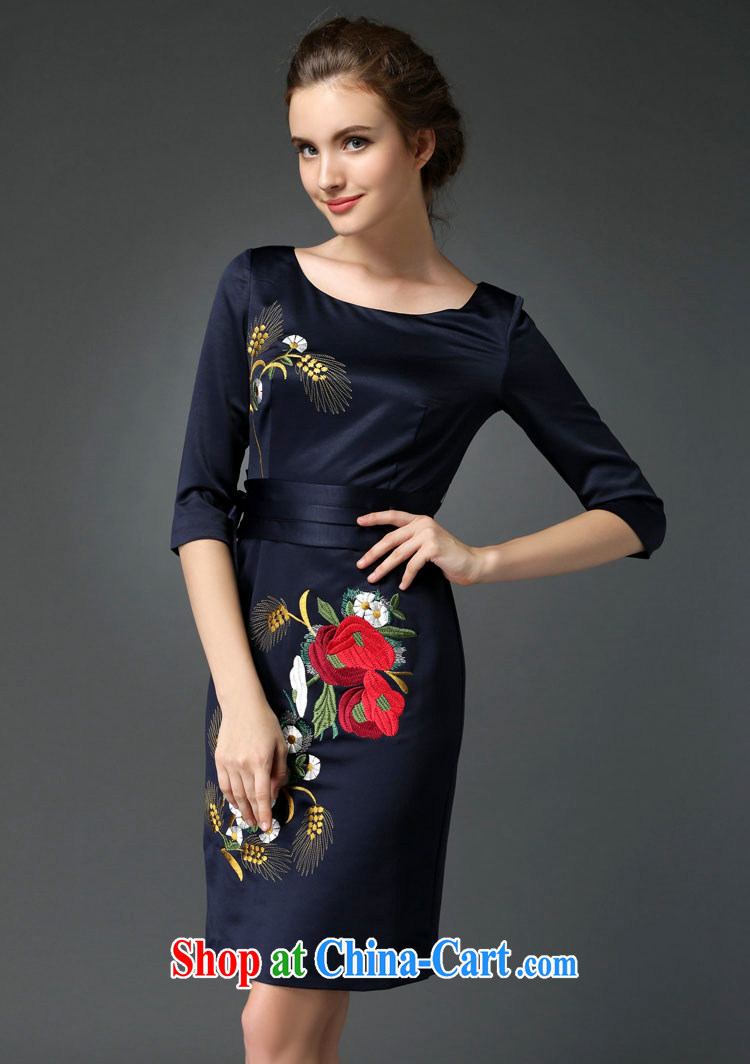 The Philippines card 2015 new elegant style evening gown embroidery cheongsam dress blue XXXL pictures, price, brand platters! Elections are good character, the national distribution, so why buy now enjoy more preferential! Health