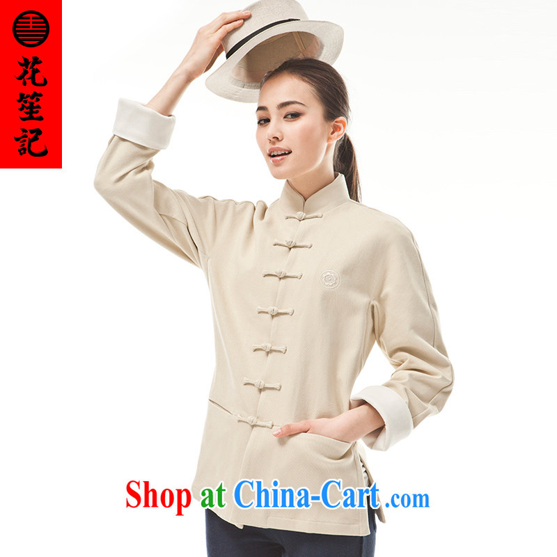 Take Your Excellency's wind _B_ is not 9 color deer female spring cultivating Long-Sleeve stylish Chinese retro shirt Bluetooth color Bluetooth color _M_
