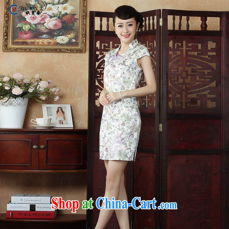 Capital city sprawl 2015 Ms. summer dresses retro short-sleeve and collar Solid Color dresses casual stylish stamp short low-power the truck lady dresses D XXL 0132