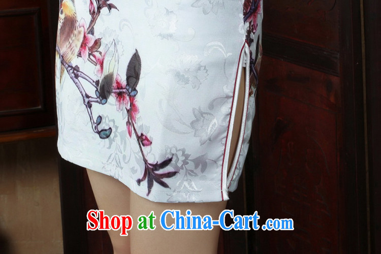 Ko Yo Mephidross colorful new short-sleeved low the forklift truck cheongsam stylish stamp duty, short, antique Chinese qipao 5 cotton short-sleeved T-shirt, Ms. D D 0248 0248 - B XXL pictures, price, brand platters! Elections are good character, the national distribution, so why buy now enjoy more preferential! Health