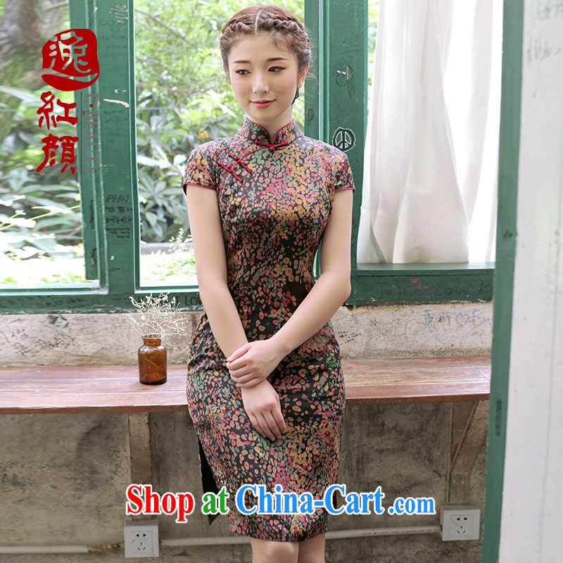 once and for all and ensure that proverbial hero Yi Heung-cloud dresses cheongsam dress 2015 spring and summer improved stylish beauty Silk Cheongsam dress suit M