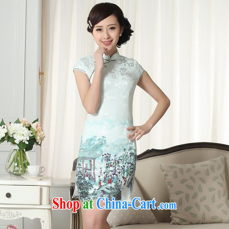 According to fuser summer stylish new ladies retro ethnic wind is classic hard disk for cultivating short Chinese qipao dress LGD/D #0294 figure 2 XL pictures, price, brand platters! Elections are good character, the national distribution, so why buy now enjoy more preferential! Health