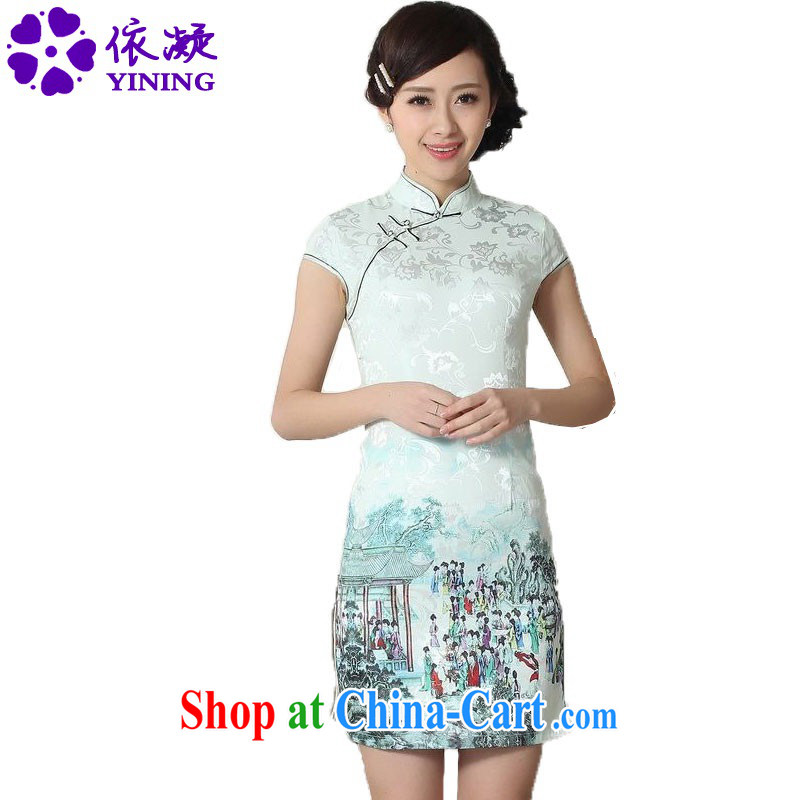 According to fuser summer stylish new ladies retro ethnic wind is classic hard disk for cultivating short Chinese qipao dress LGD_D _0294 figure 2 XL