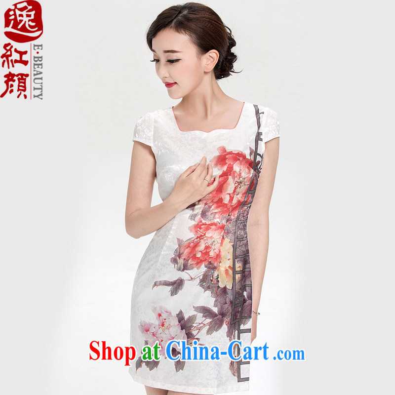 once and for all and take proverbial hero unanimously arts China wind summer female daily improved national wind dresses summer white L