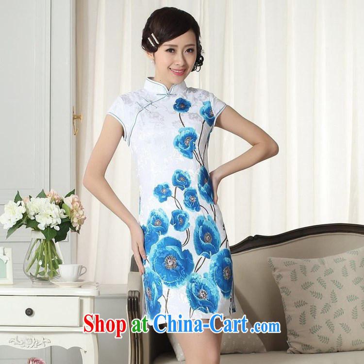 According to fuser new female Chinese improved cheongsam dress lady stylish jacquard cotton cultivating short Chinese qipao dress LGD/D #0292 figure 2 XL pictures, price, brand platters! Elections are good character, the national distribution, so why buy now enjoy more preferential! Health